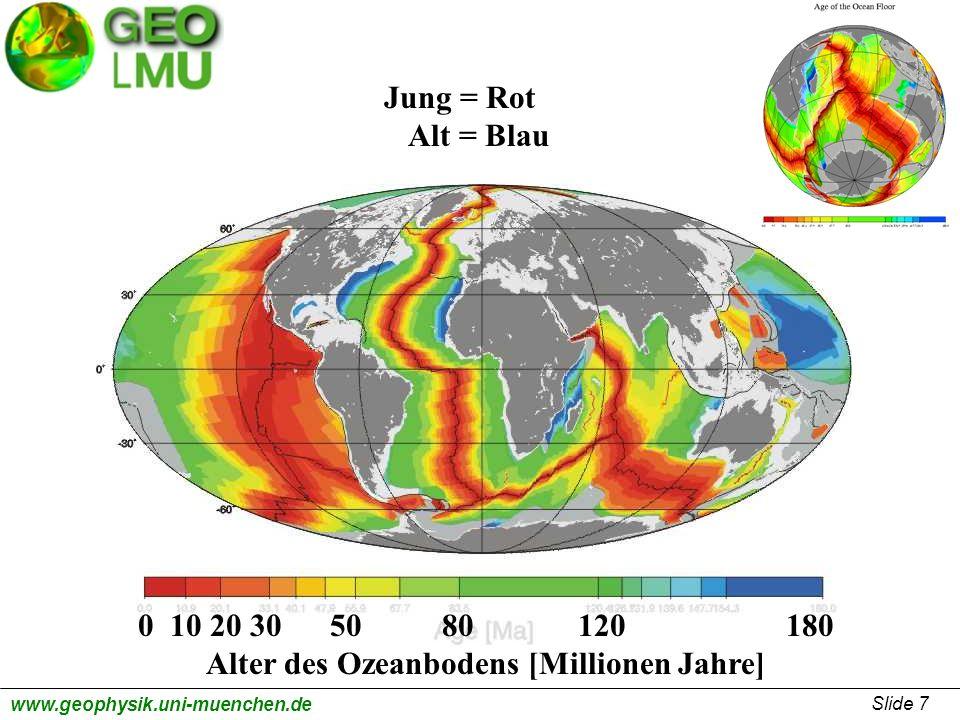 Alter des Ozeanbodens [Millionen Jahre]
